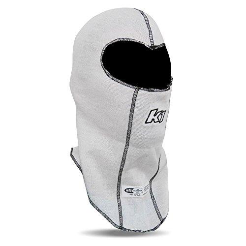 Nomex Face - K1 Race Gear Double Layer Nomex Head Sock/Balaclava (White)