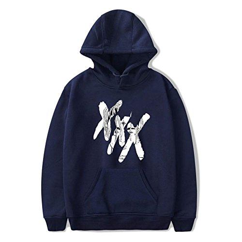 Enjoyyourlife Hooded Sportive Xxxtentacion Rapper Sad Day X Cappuccio Pullover Blue Abbigliamento Hoodie Rip Portrait Con Felpe OSOwxraq