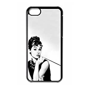 iPhone 5C Phone Case Black Audrey Hepburn HUX319267