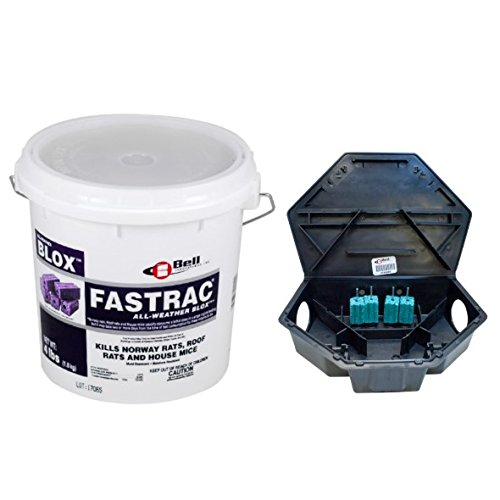 Protecta LP Rat Bait Stations CASE (6 stations) with 4 lb Fastrac Blox BELL-1062 by ProTecta