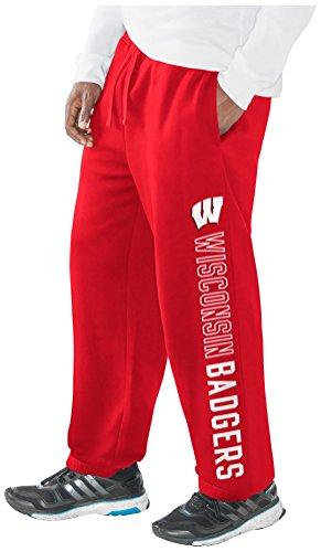 Wisconsin Badger Sweatpants - G-III Sports NCAA Wisconsin Badgers Men's Perfect Game Sweatpant, Red, 3X-Large