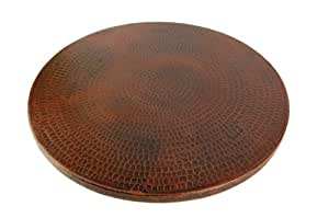Premier Copper Products LS20DB 20-Inch Hand Hammered Copper Lazy Susan, Oil Rubbed Bronze