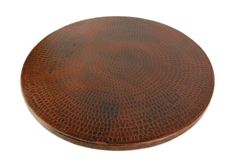 Premier Copper Products LS20DB 20-Inch Hand Hammered Copper Lazy Susan, Oil Rubbed Bronze by Premier Copper Products
