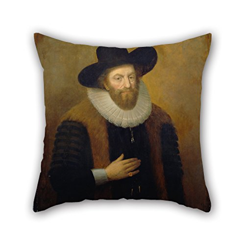Alphadecor Oil Painting Morris, William BrightUnknown Artist - Edward Alleyn Christmas Pillowcover Best For Coffee House Kids Room Car Seat Office Her Him 16 X 16 Inches / 40 By 40 Cm(twice Sides) (Car Seat Cover Frogs With Leaves compare prices)