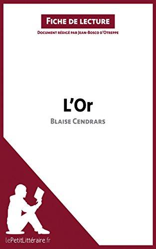 L'Or de Blaise Cendrars