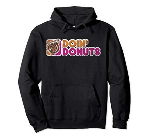 Vintage Doin' Donuts Drift Racing Hoodie - Car Guy - Car Hoodie