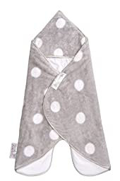 Puckababy The Gogo Newborn Baby Wearable Swaddle Blanket, Gray, 0-7 M