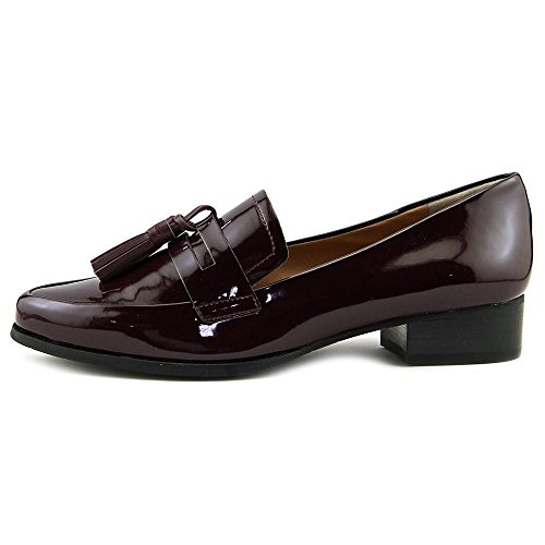 Tahari Womens Ta-looker Mocassino Slip-on Wine