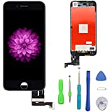 Compatible with iPhone 7 Plus Screen Replacement Black (5.5''), LCD Display and 3D Touch Screen Digitizer Replacement Full Assembly Compatible with iPhone 7 Plus Screen with Repair Tool Kit