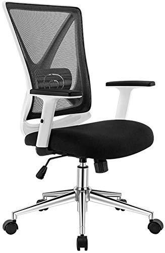 DFKDGL Silla Silla de Oficina Apoyabrazos Ajustables y Soporte Lumbar Silla ergonomica de computadora de Malla con diseno en Forma de X para Oficina en casa para salon de Oficina Comedor