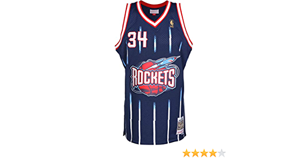 Camiseta NBA Houston Rockets Hakeem Olajuwon 34 (Azul), M: Amazon.es: Deportes y aire libre