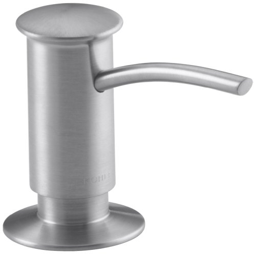 KOHLER K-1895-C-G Soap or Lotion Dispenser with Contemporary Design (Clam Shell Packed), Brushed Chrome