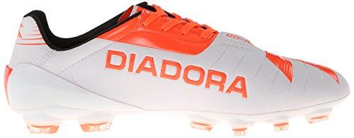 Diadora Fußball DD-NA GLX14 Fußball Cleat Superweiß / Flammenrot