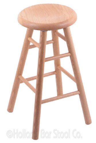Oak Natural Stool Swivel Pub - Oak Extra Tall Bar Stool in Natural Finish