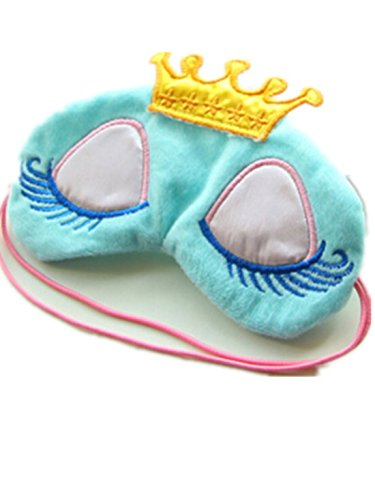 Princess Eye Mask - Helen Ou @ Super Sweet Cute Princess Style Kawaii Crown Style and Long Cilia Eye Mask Eyes Cover for Sleep Rest or Taking a Nap Necessity Blue