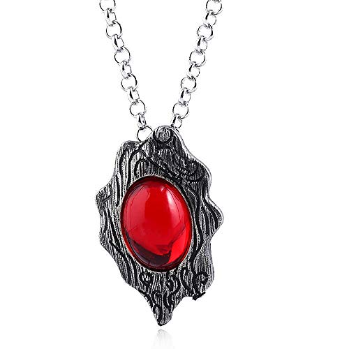 FidgetKute Gamel May Cry 5 Necklace DMC Red Soul Amulet Pendant Cosplay Jewelry (Red Amulet Necklace)
