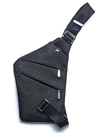 Sling Backpack - Cross Body Shoulder Bag - Messenger Daypack for Travel Gym Weekend (Black)