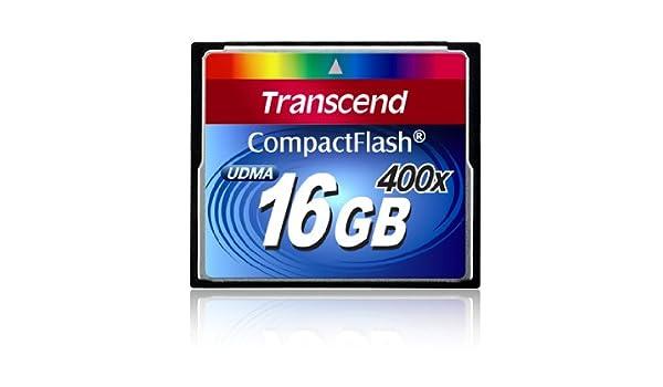Transcend 400x CompactFlash Card, 16GB - Tarjeta de Memoria (16GB ...