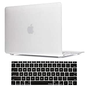 Star Macbook 12 Inch Case A1534 Rubberized Hard Case Shell Cover With Hollow Out Silicone Keyboard Skin Cover White