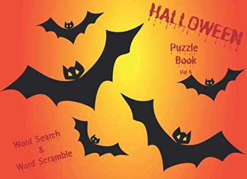 Halloween Themed Word Search (Halloween Puzzle Book - Vol 6: Large print Halloween themed word search and word scramble puzzles (Halloween)