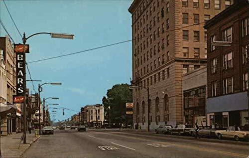 Downtown Street Postcard - Downtown Street Scene Elyria, Ohio Original Vintage Postcard