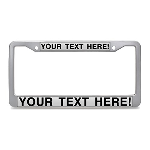 - Hensonata Customize License Plate Frame, Personalized Your Own Stainless Steel License Plate Frame