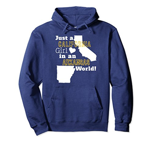 Unisex Just A California Girl In A Arkansas World Hoodie Sweatshirt Medium - In Arkansas Malls