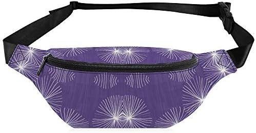 タンポポの紫外線 ウエストバッグ ショルダーバッグチェストバッグ ヒップバッグ 多機能 防水 軽量 スポーツアウトドアクロスボディバッグユニセックスピクニック小旅行