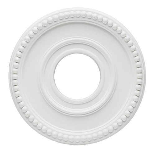 Westinghouse Lighting 7776200 12-3/4-Inch White Finish Colonnade Ceiling Medallion