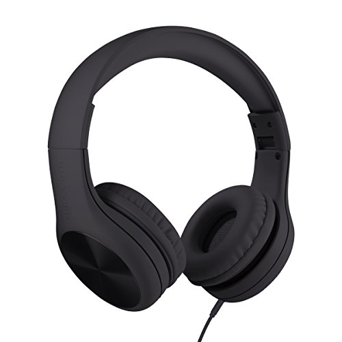 New! LilGadgets Connect+ Pro Premium Volume Limited Wired Headphones with SharePort for Children/Kids (Black) by LilGadgets