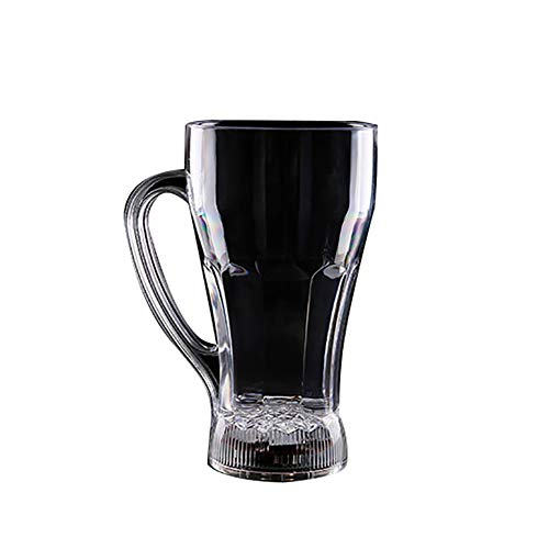 attrasfjwanrw Beer Whisky Cup Mug Acrylic LED Flashing Water Activated Light up Color Change Transparent