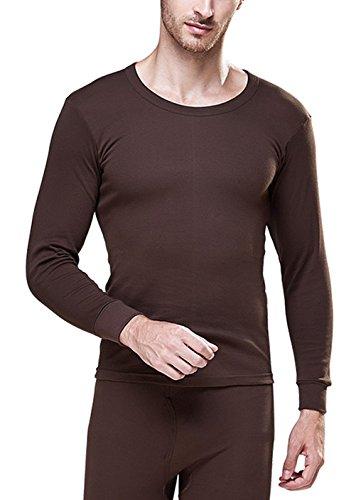 scennek Men's Microfiber Top & Bottom Set Thermal Underwear Cozy New ()