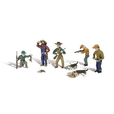 Rabbit Hunt HO Scale Woodland Scenics: Toys & Games