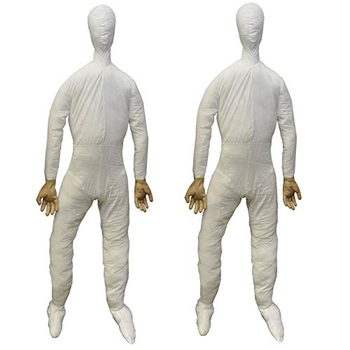 2-PC-Life Size Body-STUFFED POSEABLE DUMMY-Halloween Haunted House Holiday Props -