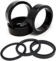 OSAGIE Bike Headset Spacer 6PCS Aluminium Alloy Bicycle Stem Headset Spacers Fork Washer Fit 1 1/8-Inch Stem,