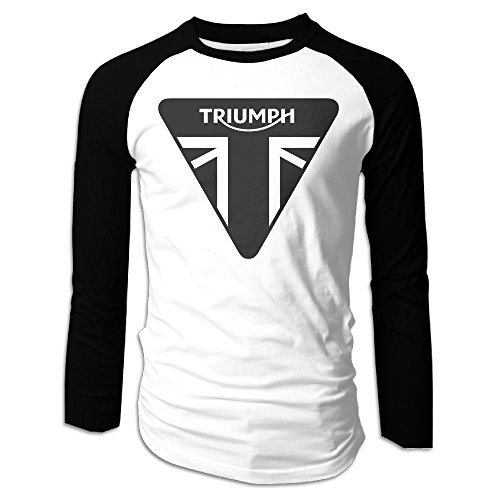 Triumph Motorcycles Logo Man's Long Sleeve Baseball Jersey - Motorcycle Baseball Jersey