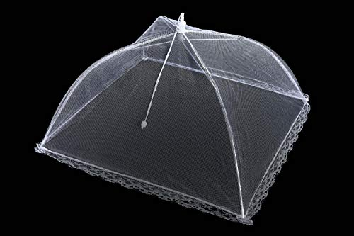 Apecks(TM) (6 pack) - Pop-Up Mesh Food Cover for outdoors - Extra Large - Bug Protector - Food Tent - 17''x17'' - Umbrella Tent For Bugs, Mosquitoes, Flies - Reusable & Collapsible - Plant Protector by Apecks (Image #5)