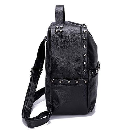 Backpack Bag Tassel Leather PU Black School Alixyz Shoulder 7 Fashion Bags Travel Women FxOnY4