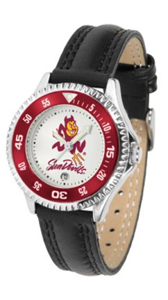Arizona State Sun Devils Competitor Ladies Watch with Leather Band