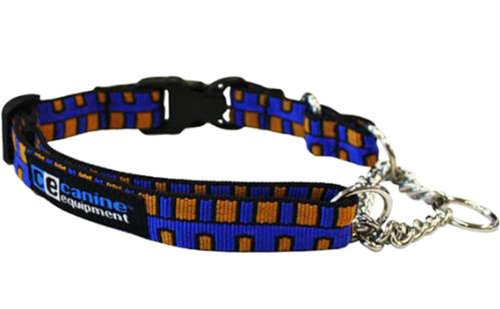 Canine Equipment Ultimate 1-Inch Quick Release Martingale Dog Collar, X-Large, Piano Keys