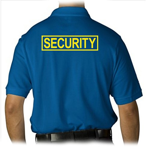 (Gs-eagle Men's SECURITY Guard Graphic Polo T-Shirt Small Royal)