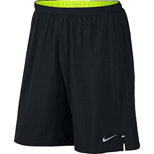 Nike Men's Phenom 2-in-1 7 Inch Running Shorts (Size: Small) 827882-010 Black - Volt