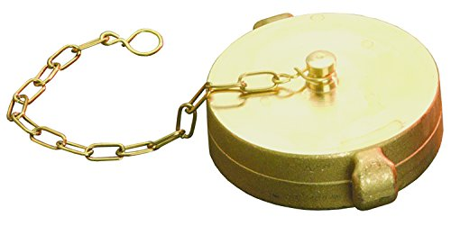 Dixon RFC250F-C 2-1/2'' NH RL Cap with Chain, Polished and Chrome, 2.5'' ID, Cast Brass