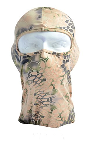 Snake Pattern Design (Camo Balaclava Face Mask Ski Mask Outdoor Sports Motorcycle Cycling Snowboard Hunting Python Snake Skin Pattern Design (WP-05))