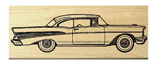 P10 Chevy antique car rubber stamp WM ()