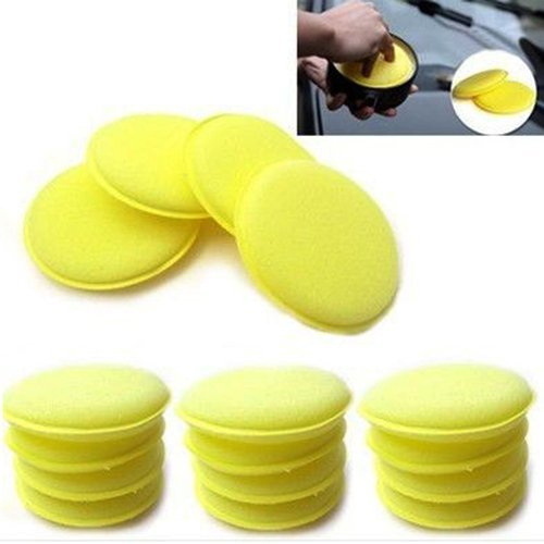 4-inch-dia-round-shaped-waxing-polish-sponge-wax-applicator-pads-yellow-pack-of-12