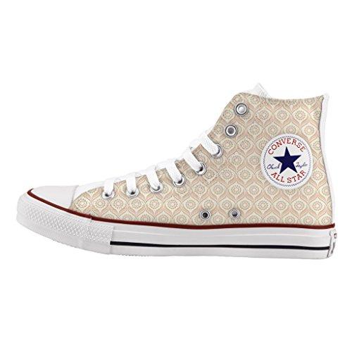 Converse Personalizzate All Star Alta - scarpe artigianali - stampa Light pink