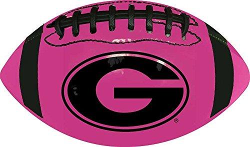 NCAA Georgia Bulldogs Mini Size Neon Pink Boxed Football