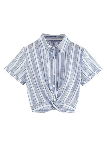 [해외]WDIRARA 여성의 우아한 폴카 도트 콜드 어깨 나비 넥타이 매듭 셔츠 블라우스 탑 / WDIRARA Women`s Elegant Polka Dot Cold Shoulder Bow Tie Knot Shirt Blouse Tops