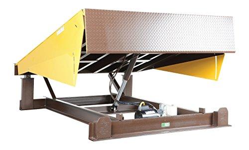 Vestil-EH-610-25-Dock-Leveler-Electric-Hydraulic-25000-lb-Capacity-6-x-10-Silver